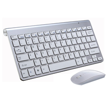 Spanish keyboard Stickers Ergonomic Wireless 2.4G Ultra Slim Keyboard Mouse Keyboard Mouse Combos for Apple Mac Win XP/7/10 IOS(China)