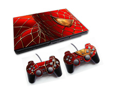 Spiderman Vinyl Skin Sticker Cover For Sony PS2 Console with 2 Controllers Decal For Playstation 2 Gamepad Joystick Accessories