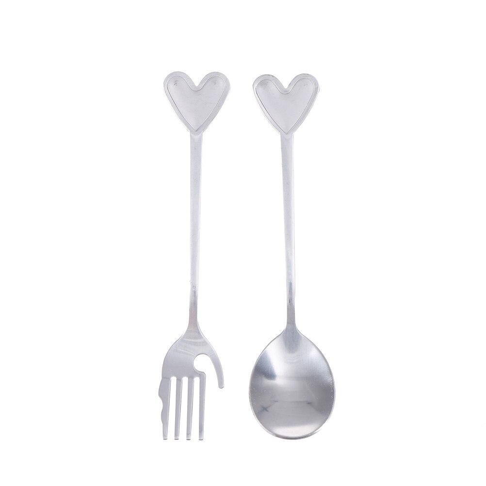 Lovely Creative Tableware Love Heart Coffee Spoon / Palm Fork Set ...