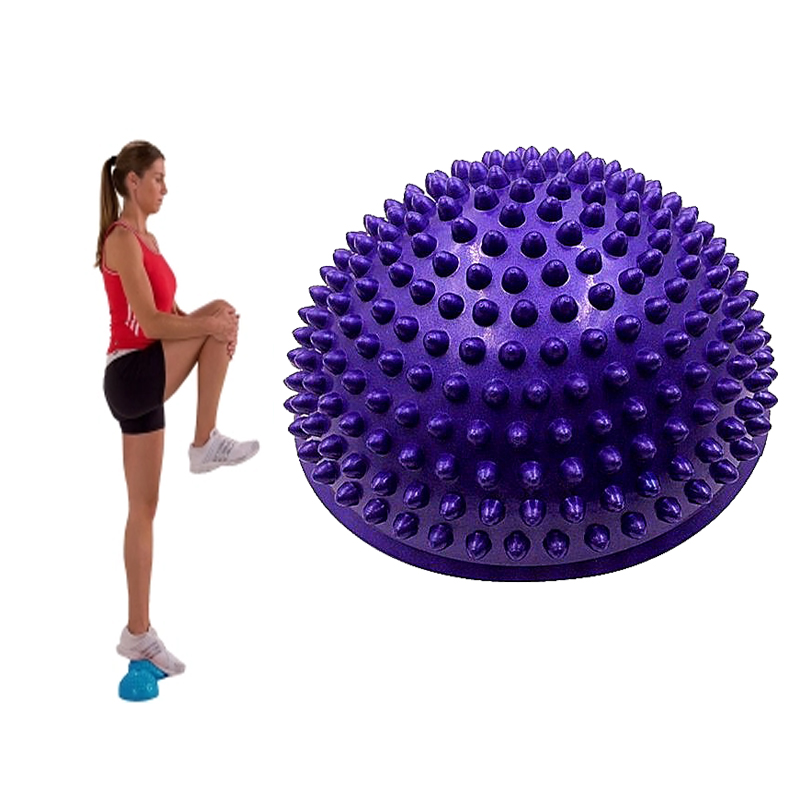 PVC Inflatable Half Yoga Balls Massage Point Fitball Exercises Trainer Stabilizer GYM Pilates Fitness Balancing Bosu Ball(China (Mainland))