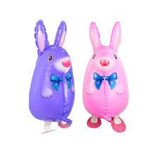 10pcs/lots rabbit walking pet balloons Birthday party decoration balloon 3D Style Event & Party Supplies wholesale