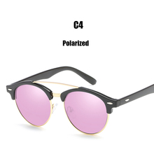 DPZ women sunglasses polarized men Lady retro sunglasses blue gray silver brown rays sunglass Semi Rimless Rice Nai(China)