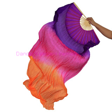 NEW ARRIVAL! imitated silk belly dance accessories 3 colors 1.8M belly dance fans for women belly dance props fans 1pcs
