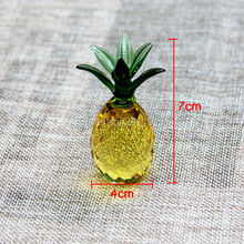 1pcs 40mm Crystal Crafts Pineapple Glass Paperweight Fengshui Figurine Quartz Ornaments Home Decoration Christmas Souvenir Gifts(China)