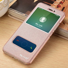 For Huawei Honor Nova Leather Case Original ALIVO High Quality PU Leather View Window Flip Cover Case For Huawei Nova Lite #VA