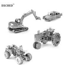 All Metal Tractors combat vehicles TAXI excavators Ford T classic cars DIY Assembly Model 3D Nano Dimensional Puzzle