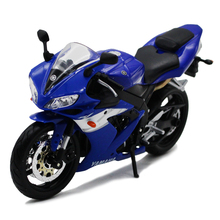 Maisto 1:12 YAMAHA YZF-R1 white/black/blue Die-casts Metal Motorcycle model