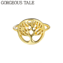 GORGEOUS TALE Unique Fashion Tree of Life Jewelry Hot Sell Minimalist Women Pinky Copper Tree Rings Best Friends Gift 2018 BFF(China)