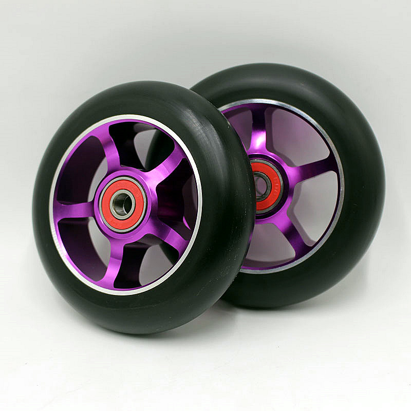 2 wheels! Free shipping! Freestyle stunt scooter wheels / roller skis wheels 100mm88A<br><br>Aliexpress