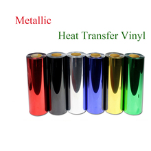 Premium Metallic heat transfer film for shirts,Heat Transfer Vinyl, metal transfer vinyl pu film with size:50cm*100cm/roll(China)