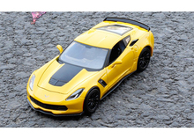 1/24 Chevrolet Corvette Stingray C7 Z06 Yellow Car Models Diecast Alloy Models Collections Displays and Gifts Boys Toys