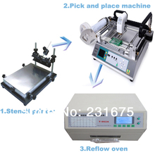 Small SMT Production Line-Pick and place machine TM220A,Solder Printer,Reflow Oven T-962A,Manufacturer,Led component,PCB Board