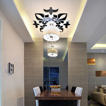 Fashion Acrylic Mirrored Decorative Sticker Creative Abstract Acrylic Style  3D Wall Stickers Mirror Ceiling Wall Mirrors