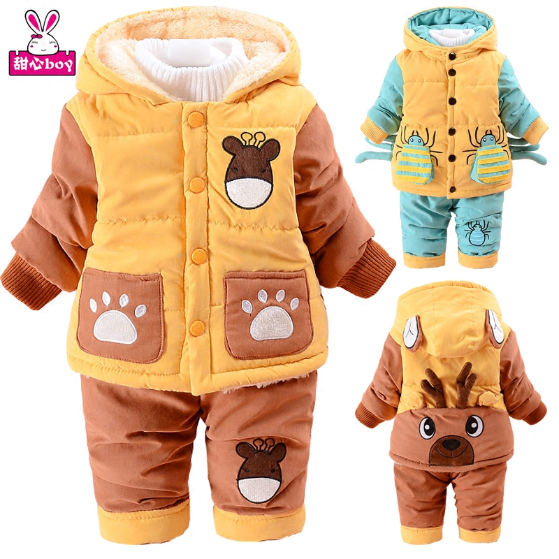 Children Winter Cotton-padded Clothes Suit 2 Pcs Infant Baby Winter Jacket Coat 3-4 Years Old Child Cotton-padded Jacket V-0284<br><br>Aliexpress