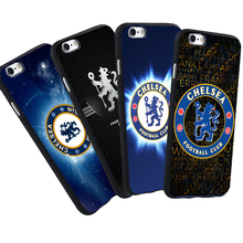 For iPhone 6 6S 7 Plus 5 S SE  5S Case Vintage Retro Chelseas FC Football Club Cool Printed Black Silicone Soft Case