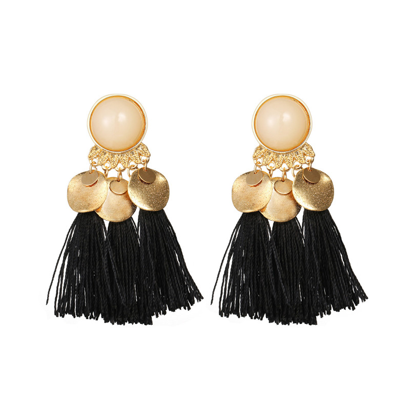2018 Trendry Earrings for Women Bohemian Fashion Weave Tassel Earrings Long Drop Earrings Jewelry for gift Brincos J05#N (11)