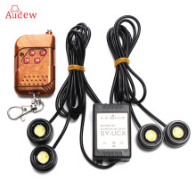 Universal 4in1 12V 12W Hawkeye LED Car Emergency Strobe Lights DRL Wireless Remote Control Kit Car Accessories 6000K
