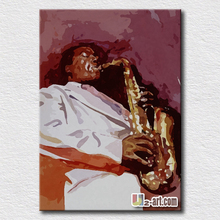 Music player oil painting modern pop art wall decoration painting for living room canvas pictures for friends gift high quality