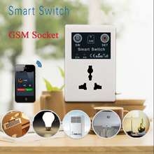 SC1-GSM EU 220V Phone RC Remote Wireless Control Smart Switch GSM Socket Power Plug for Smart Home Household Appliance(China)