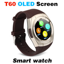 T60 Smart Watch OLED Bluetooth Mobile Phone Smartwatch Waterproof Automatic Voice Dial SIM TF FM Radio Music Pedometer Camera A1(China)