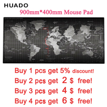 OEM Game mousepad world map 900*400 DIY Large mouse pad with edge locking