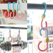 New Arrival 3 PCS/lot High Quality S Hook 360 Degree Rotation Multi-Fonction Clothes Hanger Hooks