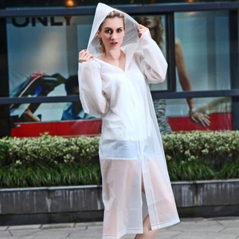 Eva Transparent Raincoat Waterproof Men Women Capa De Chuva Regenjas Coat Stylish Hooded Long Raincoat Impermeable DDG54X