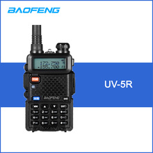 BaoFeng UV-5R Walkie Talkie Two Way Radio FM Transceiver Interphone Dual-band DTMF Encoded VOX Alarm LED Flashlight Key Lock(China)