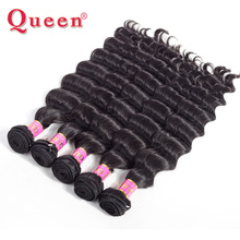 Queen Hair Products Indian Loose Deep More Wave Extensions 100% Remy Human Hair Weave Bundles 3 or 4 bundles For Full Head 1PC