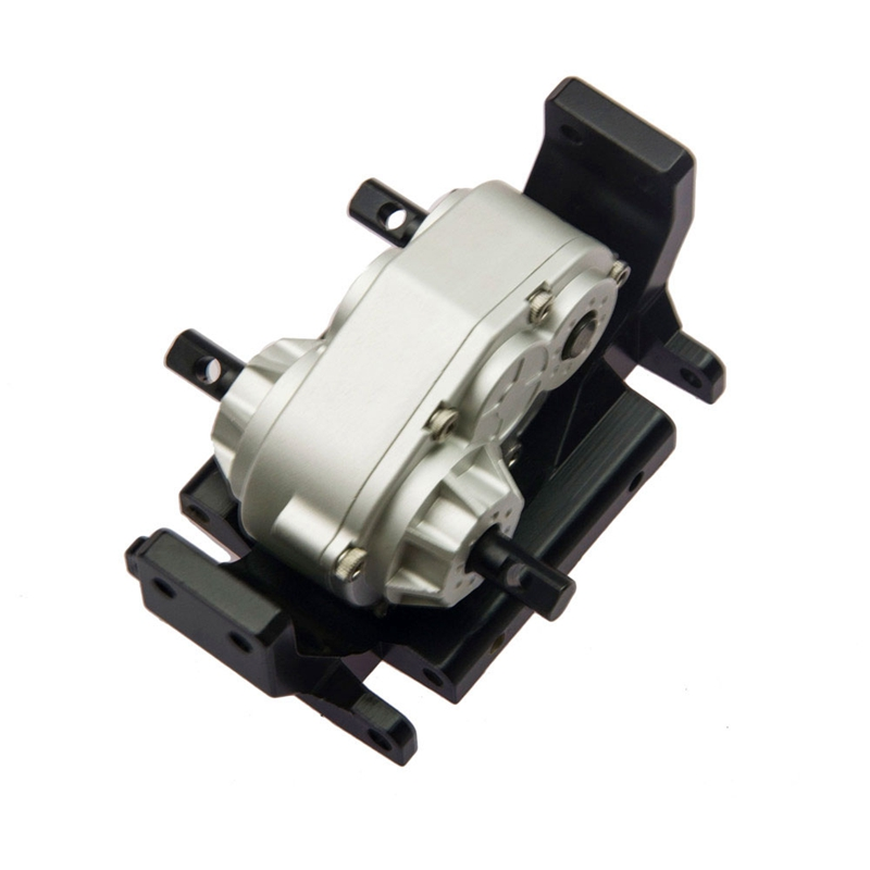 High Quality CNC Aluminum 73mm Transfer Case with Mount Holder for SCX10 D90 RC4WD 1:10 RC Crawler<br>
