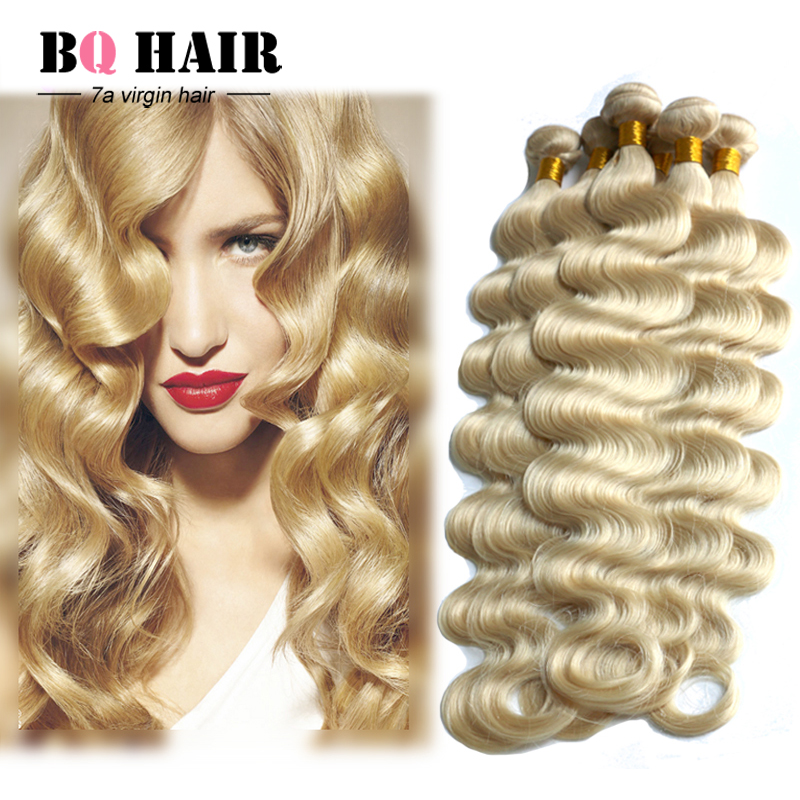 BQ Hair Products Peruvian Hair Weave Bundles Mink 7a Unprocessed Virgin Hair Perivian 613 Blonde Hair 4 bundles<br><br>Aliexpress