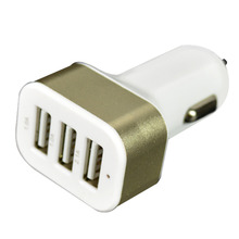 Universal Triple Universal USB Car 3 Port Car-cigarette charger Adapter Socket Car Styling Cigarette Lighter Spliter
