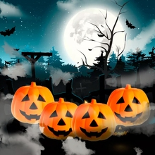 Halloween Light&Voice Control LED Luminous Pumpkin Lamp Smile Ghosts Face Lights Bar Party Decoration-TwFi(China)