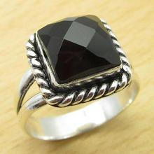 MANS Ring,  Silver Overlay Collectible BLACK ONYX HANDMADE Jeweller Size US 9