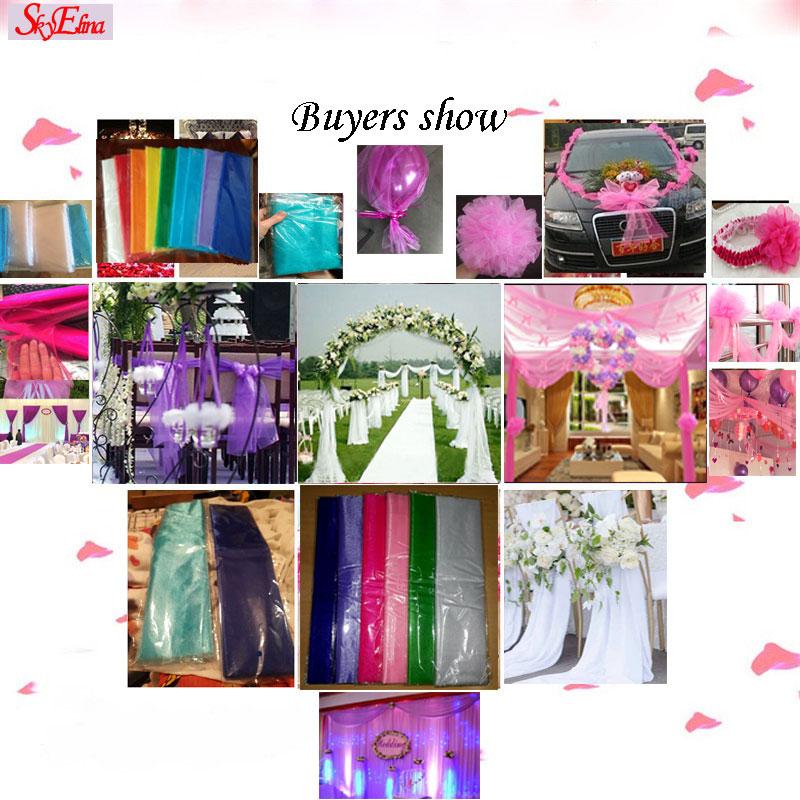 72CM  10M Multicolor Snow Yarn Crystal Transparent Gauze Gauze Elements Yarn Party Supplies Wedding Dresses 5ZSH015-2 (6)