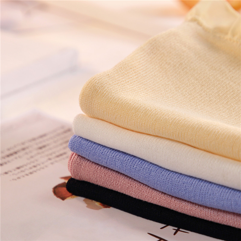 Women Fashion Knitting Patchwork Chiffon Ruffles Neck Cropped Tanks Tops Girls Knitted Tee shirts Camis crop Tops Female 28