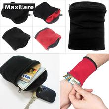 Maxkare Wrist Wallet Pouch Fitness Band Wristbands Travel Cycling Sport Wallet Hiking Accessiories High Quality