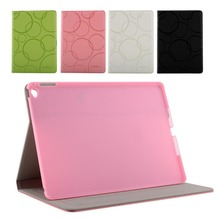 Green Fresh Series Leather Case Flip for Apple iPad6 Air2 Colorful Cover Pattern Flip Leather Case