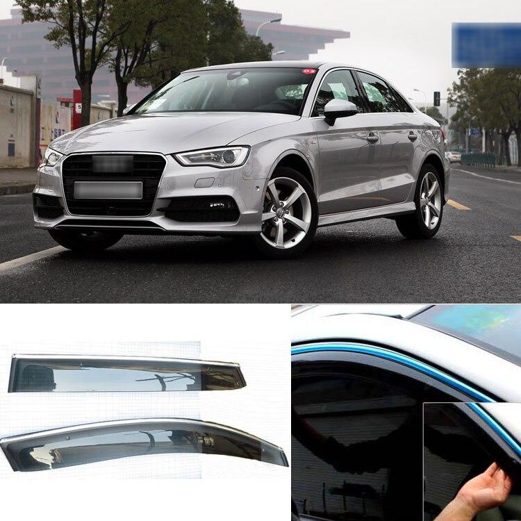 4pcs Blade Side Windows Deflectors Door Sun Visor Shield For Audi A3<br><br>Aliexpress