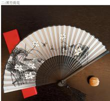10pcs Ms silk folding fan Japanese plum cherry blossom bamboo fan wholesale Summer hot day party gift present