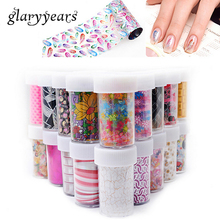 93 Designs 1 Piece Colored Nail Transfer Foil Sticker Laser Line White Black Flower Lace Decal Nail Art Sticker Wrap Holographic(China)