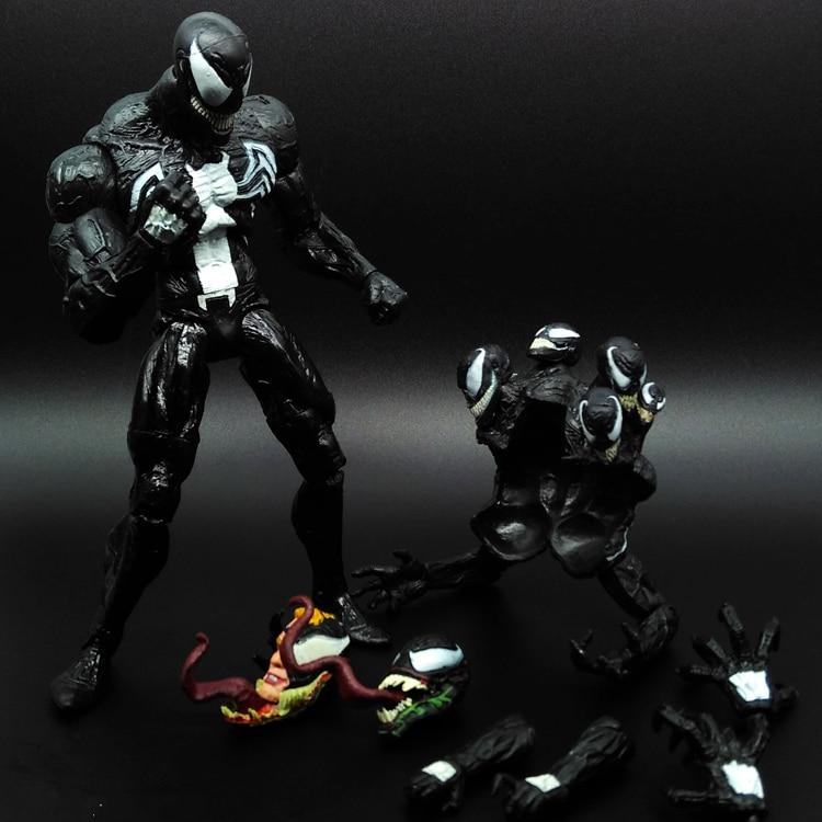 1pcs SpiderMan Black Venom Agents Ant Man Amazing Marvel PVC Action Figure Collectible Avengers Movable Body Venom 20cm<br><br>Aliexpress