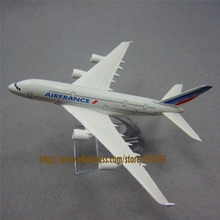 16cm Alloy Metal AIR France A380 Airlines Aircraft Airbus 380 Airways Airplane Model Plane Model W Stand  Gift