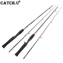 1.7M 6-12g Lure Test 2-4kg Red Color Lady Carbon Casting Lure Fishing Rod(China)