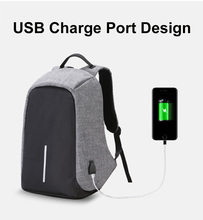 16 Inches Fashion School Backpack USB Charging Port School Bag Travel Outdoor Anti-theft Sport Fishing Hiking Camping Gym Bags