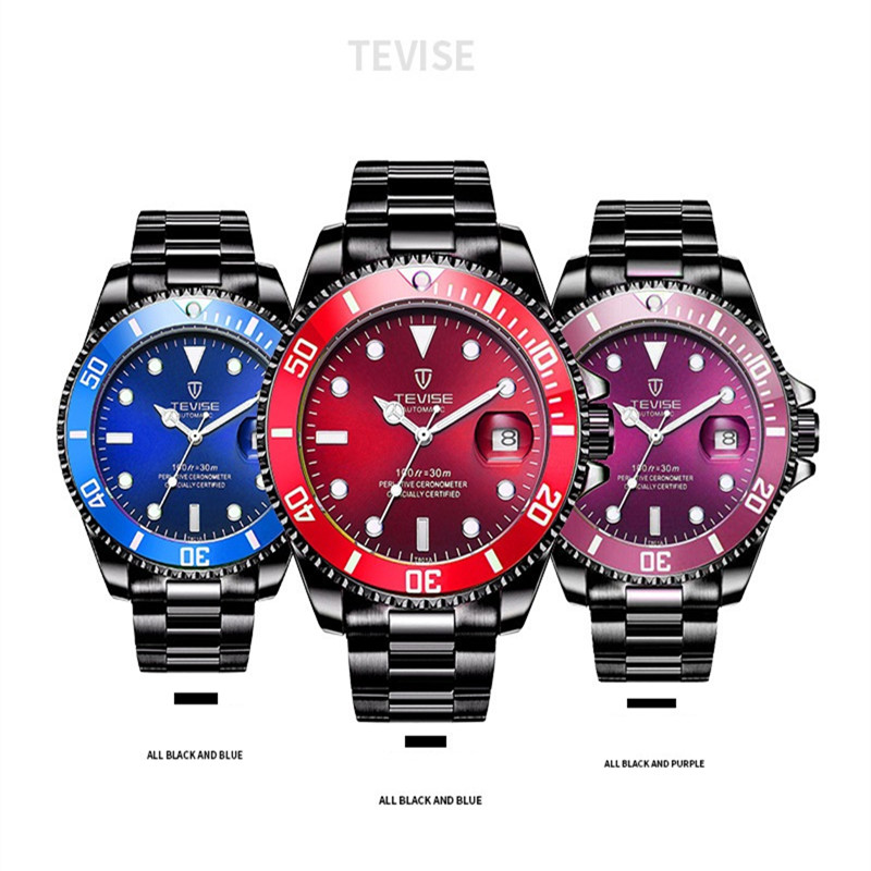 relogio masculino TEVISE Mens Watches Top Brand Luxury Watches Men Automatic Mechanical Male Clock Luminous Calendar Wrist Watch<br>