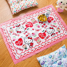 Sanrio Hello kitty picnic mat thickened cartoon cushion portable outdoor ground PVC waterproof cushion(China)