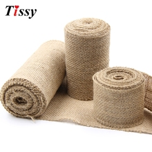 Buy 3M DIY Jute Burlap Rolls Hessian Ribbon Lace Rustic Vintage Ornament Burlap Home Table Decor Birthday/Wedding Party Decoration for $1.89 in AliExpress store