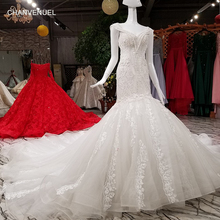 Buy LS34556 2018 mermaid ivory wedding dresses cap sleeve v neck lace back wedding dress long train china real photos for $710.93 in AliExpress store