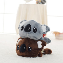35CM Cute Lying Koala Bear Plush Toy Stuffed Kawaii Kids Baby Koala Dolls Animal Toys Lovely Creative Children's Birthday Gift(China)